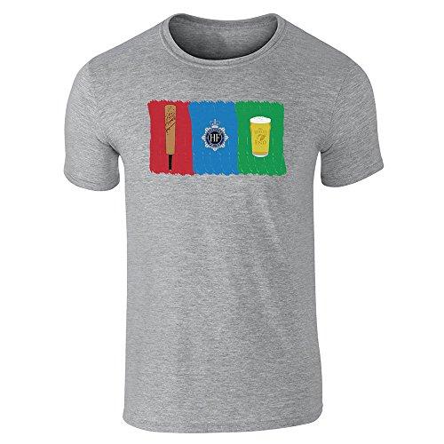 Pop Threads Herren T-Shirt Gr. M, grau