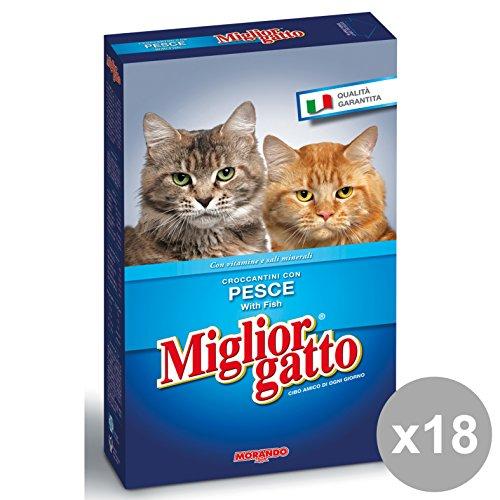 Set 18 MIGLIOR GATTO 400 Gr. Secco Pesce Cibo per gatti