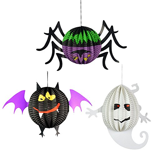 ion, Halloween, dreidimensional, Gespenst, Fledermaus, Spinne, Requisiten, Geschenk für Kinder, 3-teiliges Set (Clearance Halloween Requisiten)