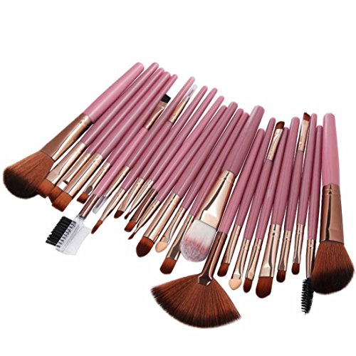 Pinceaux de Maquillage,Bekoard 25pc Cosmetic Makeup Brush Blusher Eye Shadow Brushes Set Kit (B)