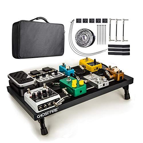 Vangoa Gitarre Pedal Board, Effects Pedalboard Aluminium Alloy Effektpedal, Leichtes, Tragbar E-Gitarren-Board