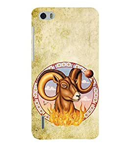 Fiobs zodiac signs design aries goat firing theme astrology Designer Back Case Cover for Huawei Honor 6 plus
