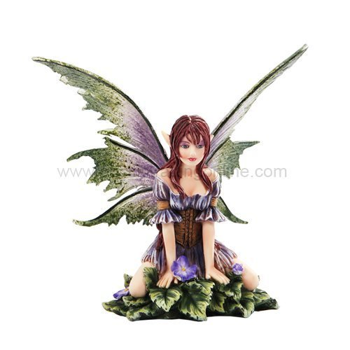 *New* 2013 Amy Brown Fantasy Wild Violet Faery Mushroom Fairy Statue Enchanted 6'h Figurine by Pacific Trading