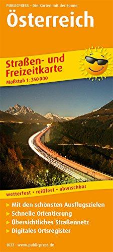 Österreich: Straßen- und Freizeitkarte mit Touristischen Straßen, Highlights der Region und digitalem Ortsregister. 1:350.000 (Straßen- und Freizeitkarte / StuF)