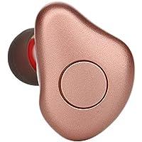 KanLin1986 Mini Bluetooth 4.1 auriculares inalámbricos In-Ear Auriculares estéreo Sport Auriculares Invisible auriculares (Oro rosa)