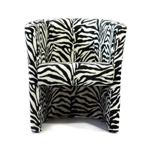 FORTISLINE TOP Sessel Clubsessel Loungesessel Cocktailsessel Zebra W042 17 - Lounge Zebra