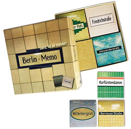 Inkognito Memo / Gedächtnisspiel 13 x 13 x 4 cm  40038 ''Berlin Memo Künstler Tom Bäcker  Memo-Spiele  Games  Berlin