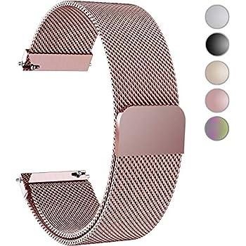 ZGS 18mm Bracelet de Remplacement Bande Smartwatch Hommes et Femmes Boucle magnétique de la Boucle milanaise