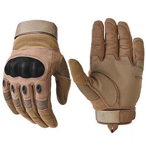 Guanti da moto impermeabili con touch screen Guanti da moto resistenti all'usura in pelle da ciclismo Guanti moto in pelle con guscio morbido in gomm