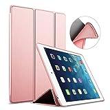iPad Mini Hülle,GOOJODOQ iPad Mini 1/2/3 PU Leder Etui Hülle Tasche mit Ständer Funktion und Eingebautem Magnet für Einschlaf/Aufwach Shockproof Silikon Weicher TPU Folio Hülle für Apple iPad Mini1/2/3(rose gold)