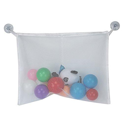 niceEshop(TM) Bad Spielzeug Organizer Large Speicher für Baby / Kind Spielwaren + 2 Bonus Starke Hooked Saugnäpfe, Weiß