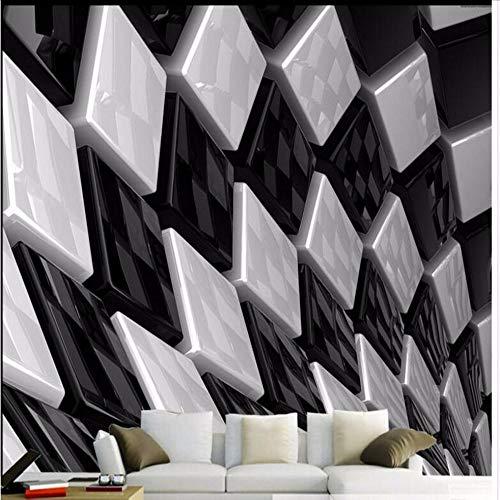 Stereo Schwarz Und Weiß Dreidimensionale Box Kreative Boden Pvc Dicke Verschleißfeste Ultragreen Bodenfliesen-300Cmx210Cm -