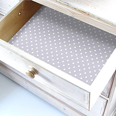 PALE LILAC/WARM GREY Wipe clean Polka Dot Drawer & Shelf