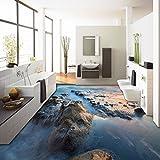 LHDLily 3D Wallpaper Wandbild Schöne Sea Reef Bodenbelag Hintergrund Wand Rutschfeste Verdickt Schlafzimmer Wohnzimmer Bad Bodenbelag Wandbild 150Cmx100Cm