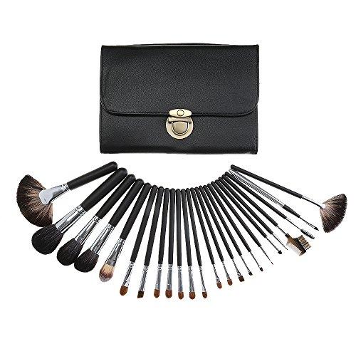 noir cheveux fibre premium 24 pcs / set meilleur blush fondation pinceaux de maquillage, crèmes, liquides, contournage