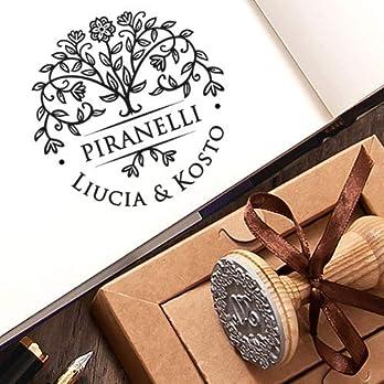 Hochzeitsstempel Personalisiert Stempel Hochzeit Personalisierte Geschenke Familiengeschenk Blühen Baum des Lebens
