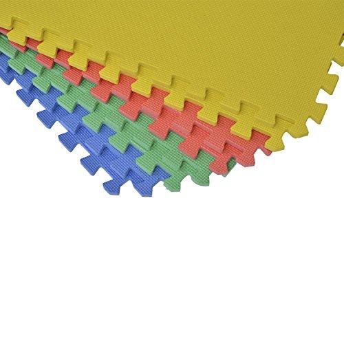 HOMCOM 8 tlg/16 tlg/24 tlg Matte Puzzlematte Spielmatte Bodenschutzmatte Bodenmatte Turnmatte EVA (bunt)