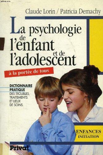 Psychologie de l'enfant et de l'adolescent 092796