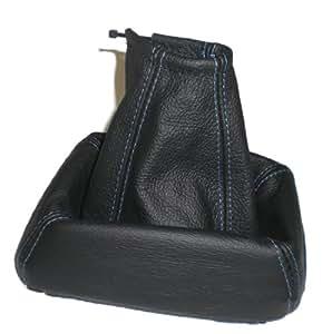 schaltsack schaltmanschette echt leder schwarz naht blau auto. Black Bedroom Furniture Sets. Home Design Ideas