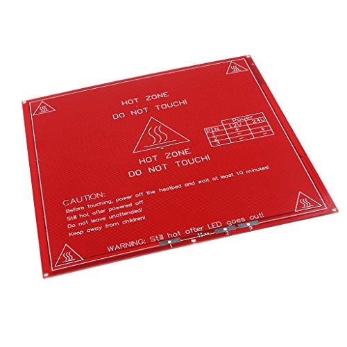 Almencla Heizbett Druckbett Druckbett Heated Bed Panel Scheibe für 3D Drucker MK2A, 12/24V -