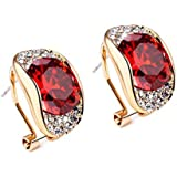 YAZILIND Noble Simplicity Ruby Full Diamond New Geometry Hypoallergenic Earrings Mothers Day Gifts