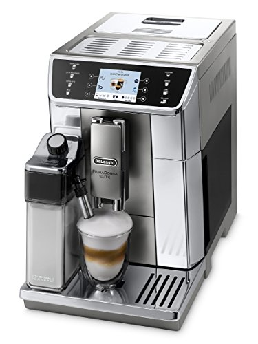 """De Longhi PrimaDonna Elite ECAM 656.55.MS, macchina per caffè espresso automatica (Display a colori TFT da 3,5"""", Sistema montalatte integrato, controllo tramite App, frontale in Acciaio Inossidabile, funzione 2tazze) argento"""