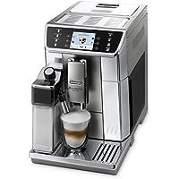 Cafetera automática De'Longhi PrimaDonna Elite ECAM 656.55.MS con pantalla a color TFT de 3,5 pulgadas, sistema de leche integrado, control por aplicación, parte frontal de acero inoxidable, función de taza doble, color plateado