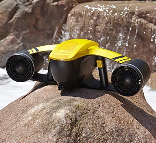 HYLH Scooter sous-Marin, Explorateur de Robot sans Pilote Explorateur électrique Submersible à Deux Vitesses étanche à la Vitesse de l'hélice, Piscine propulseur de plongée Jouets Natation Enfants
