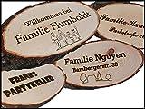 Vinmut-Design Türschild mit Wunschtext Gravur Geschenk Namensschild Rinde Holz Schild Name