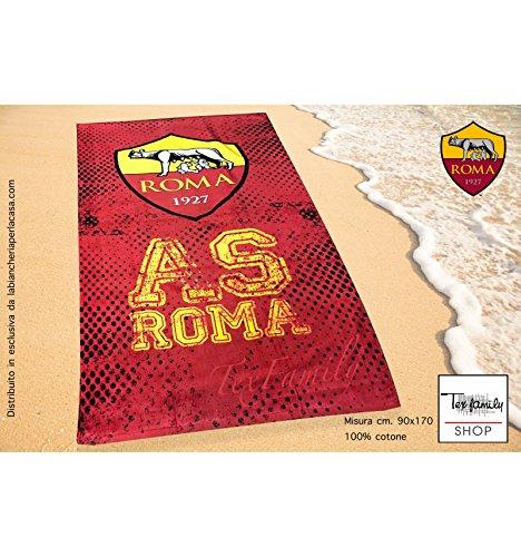 Telo mare sport roma misura grande cm. 90 x 170 originale a.s. roma
