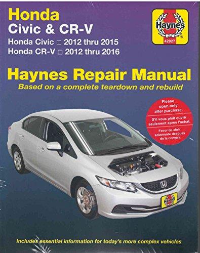 honda-civic-cr-v-automotive-repair-manual-2012-2016
