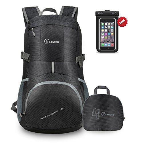 ZOMAKE 35L Ultraleicht Faltbarer Wanderrucksack, Multi-Funktionaler Stopfbarer Wasserdichter Casual Camping Tagesrucksack für Outdoor-Sport Klettern Bergsteiger