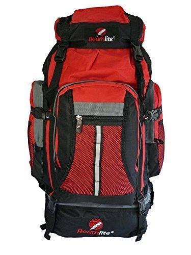Roamlite Zaino da 80 85 Litri per campeggio escursionismo. RL02Mi - Nero e Rosso