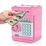 LayOPO ATM password salvadanaio, mini Electronic salva monete soldi contanti, scroll Paper auto risparmio di denaro box for Kids Gift Toy, rosa