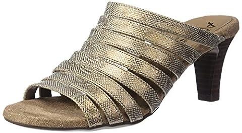 A2 by Aerosoles Women's Spowse Slide Sandal, Bronze Snake, 8