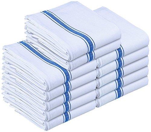 Geschirrtuch - 100% Ringgesponnene Baumwolle - Maschinenwaschbar - Küche Geschirrtücher Handtuch Geschirrtücher (12 Pack, 38 x 64 cm) - Von Utopia Towels (Blau) (Küche Makeover)