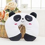 attachmenttou Almohada En Forma de U Coche Reposacabezas Color Práctico PP Algodón IR A Dormir, Panda