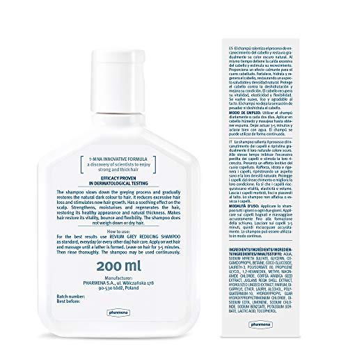 Revium -  Champú intensivo reductor de canas con molécula 1- metilnicotinamida,  200 ml
