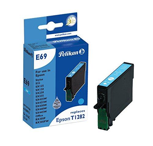 Pelikan Druckerpatrone E69 ersetzt Epson T12824011, Cyan (pigment) - Pigment-inkjet-cyan