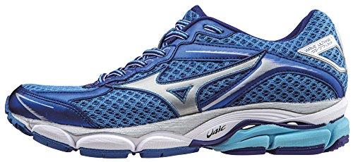 MizunoWave Ultima Wos - Zapatillas de Running Mujer , Azul (Bleu (PalaceBleue/Silver/ClematisBleue)), 38