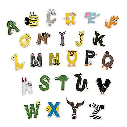 t Bügeleisen 26 Englisch Buchstaben Applique Patches DIY Handwerk Kleider T-shirt Jeans Kleidung Taschen Schals Patches (Handwerk Buchstaben)