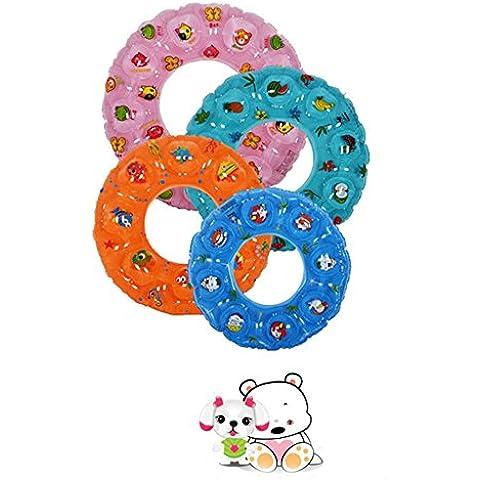 1pc/PVC Cartoon Cristallo Bambini Adulti sicurezza gonfiabile galleggiante Piscina Giocattoli nuoto anello Boa Piscina cerchio, 2strati, Float ascelle giri