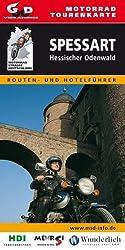 Motorrad-Tourenkarte Spessart und Hessischer Odenwald: Routen- und Hotelführer