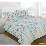 Textiles Direct Starburst Double Printed Duvet Cover Set, Teal