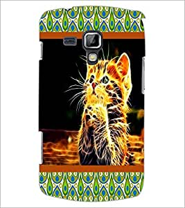 PrintDhaba Digital cat D-4752 Back Case Cover for SAMSUNG GALAXY S DUOS 2 S7582 (Multi-Coloured)