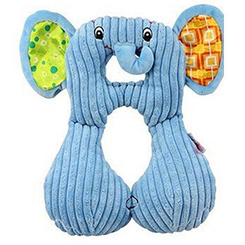 Almohada de viaje para bebé, almohada de viaje para bebé recién nacido, almohada para el cuello, almohada para asiento de coche para proteger la cabeza del bebé elefante