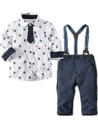 mama stadt Kinderanzug Boy Gentleman Anzug Hemd Fliege + Shorts + Gurt dreiteiligen Anzug