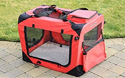 RayGar RED DOG PUPPY CAT PET FABRIC PORTABLE FOLDABLE STRONG SOFT CRATE CARRIER PET KENNEL CAGE *BRAND NEW*