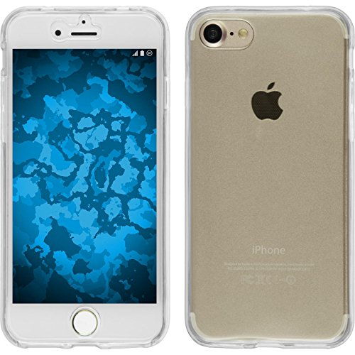 PhoneNatic Custodia Apple iPhone 8 Cover azzurro 360° Fullbody iPhone 8 in silicone Case Trasparente