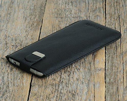 iPhone Case Leder Hülle Tasche Etui Cover personalisiert durch Prägung mit ihrem Namen, Monogramm. Für X 8 7 plus 6 6s + 5 5s 5c SE (Personalisierte Leder)